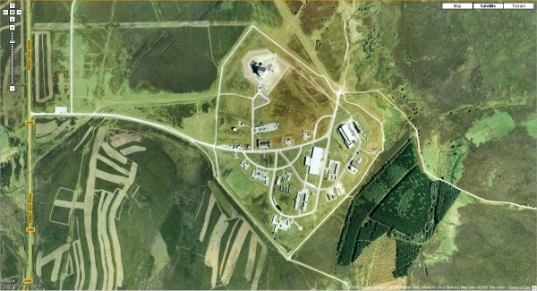 Satellite view of RAF Fylingdales (Cryptome)