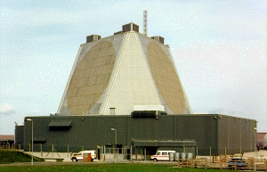 The Phased Array Radar pyramid at RAF Fylingdales (Yorkshire CND)