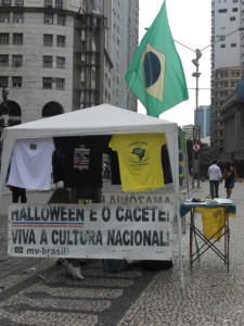 A Brazilian nationalist street stall in Rio