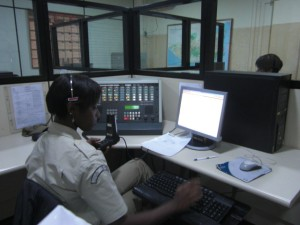 Operator in the Guarda Municpal emergency control room