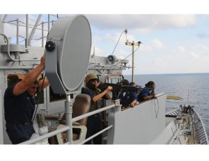 LRAD being used by the US Navy (ATC)