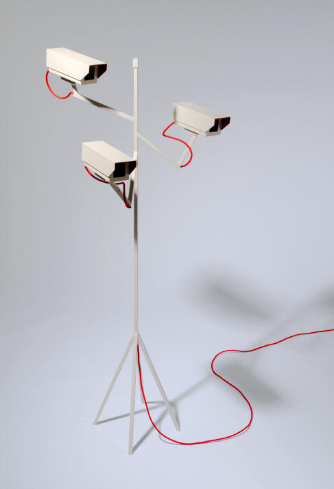 Surveillance light designed by Per Emanuelsson and Bastian Bischoff, Humans since 1982 (Victor Hunt Gallery).